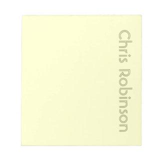 Libreta personalizada verde bloc