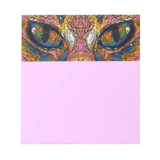 Libreta psicodélica de los ojos de gato bloc de notas