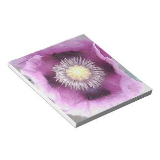 Libreta púrpura de la foto de la amapola blocs de papel