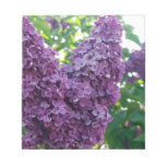 Libreta púrpura de las lilas bloc de papel