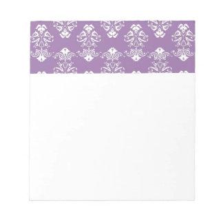 Libreta púrpura del damasco bloc de notas