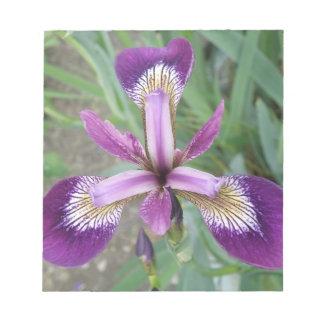 Libreta púrpura del iris bloc de notas