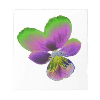 Libreta púrpura y verde del pensamiento bloc de notas