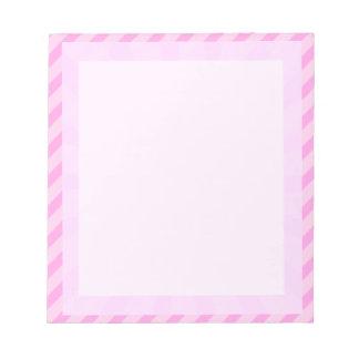 libreta rayada rosada de la frontera blocs de notas
