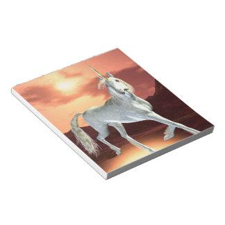 Libreta real del unicornio bloc de papel