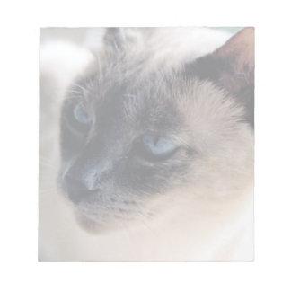 Libreta reservada del gato siamés bloc de papel