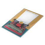 Libreta retra de la máquina de escribir 50s con el libreta para notas