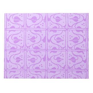 Libreta retra de la púrpura de la lavanda de las v blocs