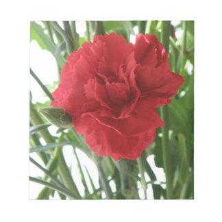 Libreta roja del clavel bloc de papel