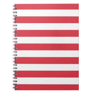 Libreta roja del modelo de las rayas de la amapola