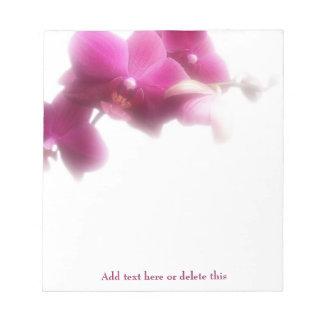 Libreta rosada de la orquídea bloc de notas