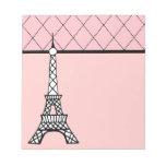 Libreta rosada de la torre Eiffel Libreta Para Notas