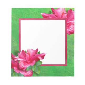 Libreta rosada de los leus del hibisco blocs