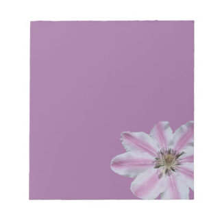 Libreta rosada del Clematis Libreta Para Notas