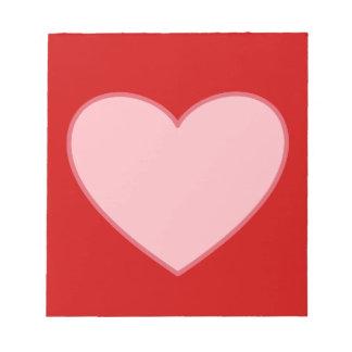 Libreta rosada del corazón blocs