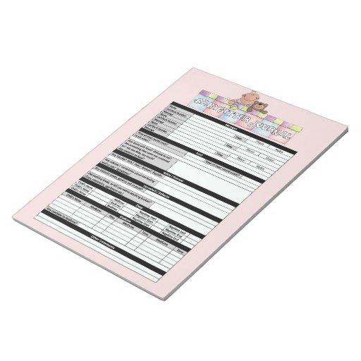 Libreta rosada del diario de las nin@eras blocs