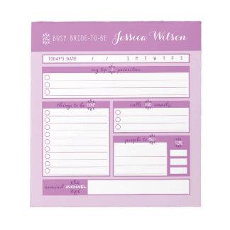 Libreta rosada del planeamiento del boda blocs
