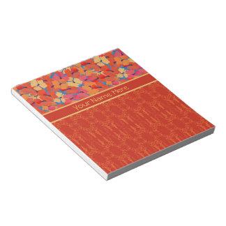 Libreta rosada elegante o Jotter de las amapolas Blocs De Notas