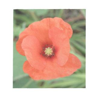 Libreta salvaje de la flor de la amapola bloc de notas