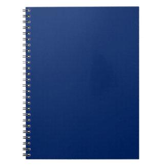 Libreta sólida del azul real