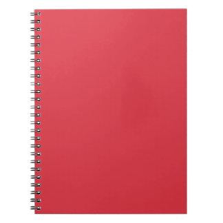 Libreta sólida del rojo de la amapola