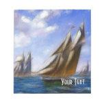 Libreta surrealista de los veleros bloc de papel