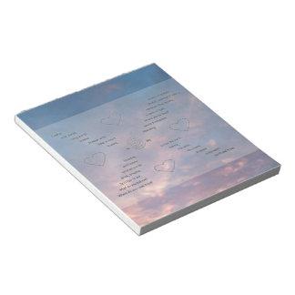 Libreta tipográfica del arte del cielo del poema libreta para notas