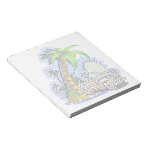 "Libreta tropical 5.5x6 de la escena "" libreta para notas"