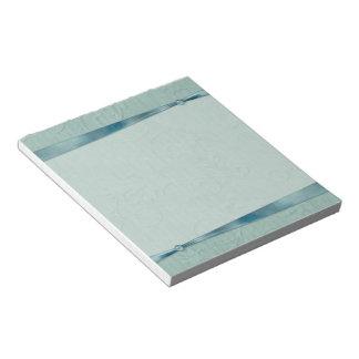 Libreta verde de la cinta bloc