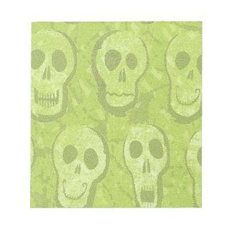 Libreta verde de los cráneos bloc de notas