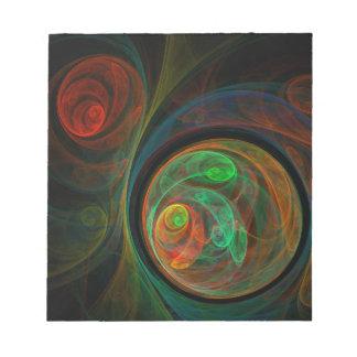 Libreta verde del arte abstracto del renacimiento bloc de papel
