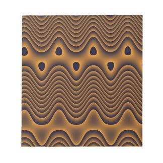 Libreta volcánica de los océanos blocs de papel
