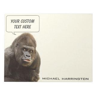 Libretas conocidas de encargo del gorila divertido bloc