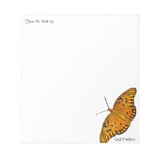 Libretas de la foto de la mariposa del Fritillary  Blocs De Papel