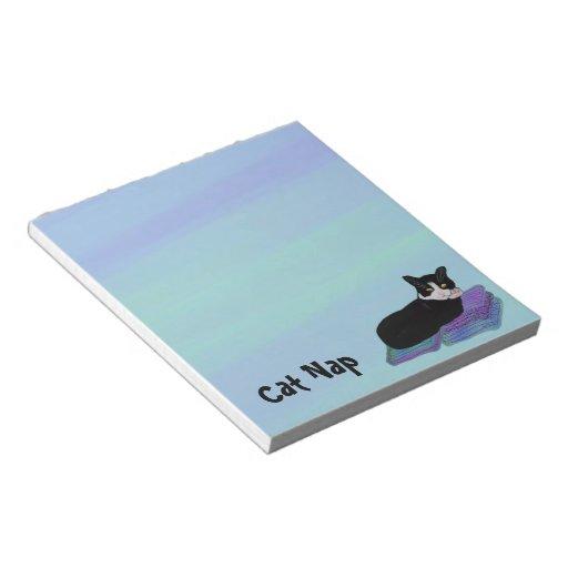 Libretas de la siesta del gato del smoking libretas para notas