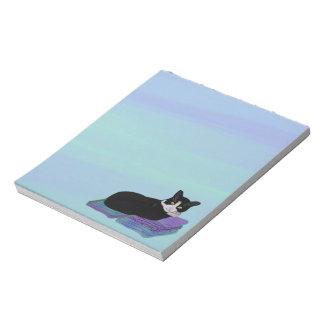 Libretas de la siesta del gato del smoking libreta para notas