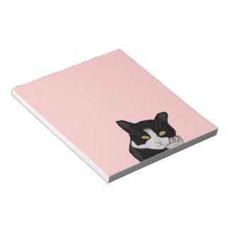 Libretas del gato del smoking bloc de notas