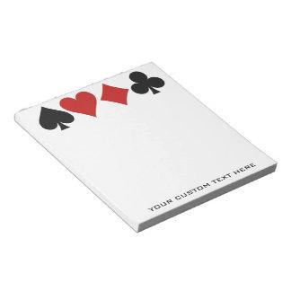 Libretas del personalizado del jugador de tarjeta blocs de papel