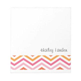 Libretas personalizadas el rosadas y anaranjadas blocs de notas