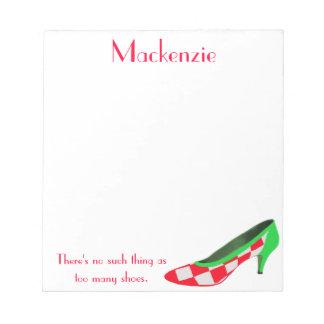 Libretas personalizadas zapato lindo del tacón alt blocs