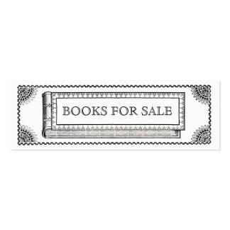 Libro adornado del vintage, libros antiguos para tarjetas de visita mini