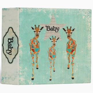 """Libro ambarino y azul del bebé de las jirafas carpeta 2"""""""