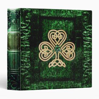 "Libro antiguo céltico verde bonito de la magia del carpeta 1 1/2"""