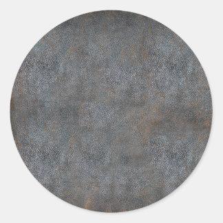 Libro antiguo de cuero gastado pegatina redonda