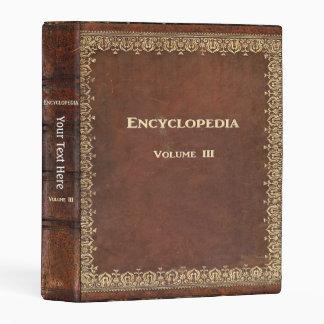 Libro antiguo de la enciclopedia de Falln Mini Carpeta