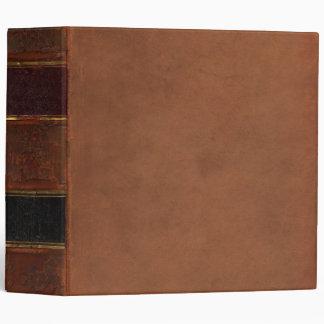 Libro antiguo retro marrón encuadernado de la imi