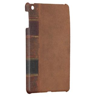 Libro antiguo retro, marrón encuadernado de la imi iPad mini coberturas