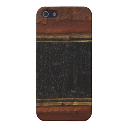 Libro antiguo retro, marrón encuadernado de la imi iPhone 5 carcasa