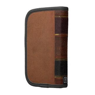 Libro antiguo retro, marrón encuadernado de la imi organizadores