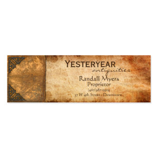Libro antiguo tarjetas de visita mini